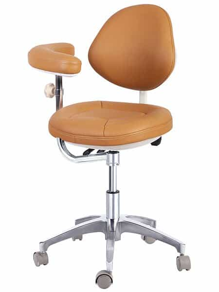 Dental Assistant Stool with Backrest
