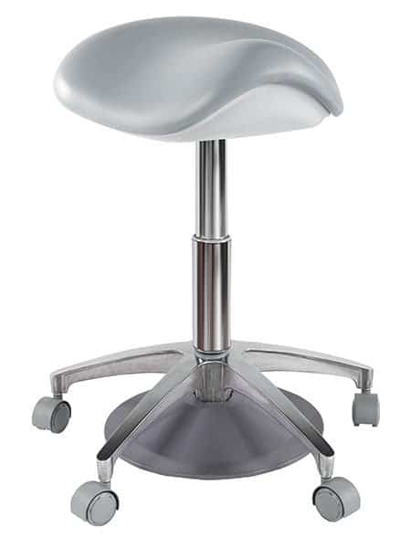 Foot-control saddle stool ergonomic stool