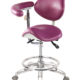 Saddle Chair Style Dental Assistant Stool with swing armrest