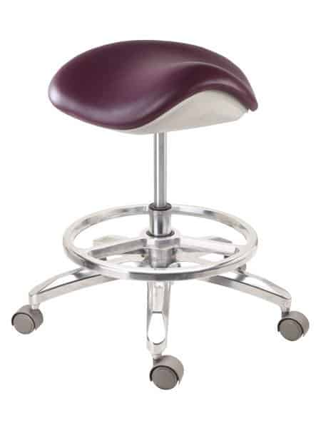Salon Stool Saddle Stool with Footrest Ring Supplier