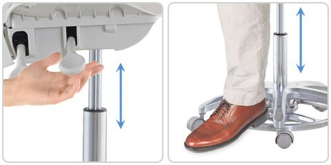 Foot-Control Height Adjustment Microscope Chair - TRONWIND