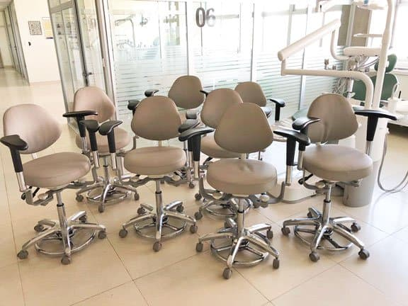 Tronwind Endodontic Chair Dental Stools with Armrest in dentistry clinic
