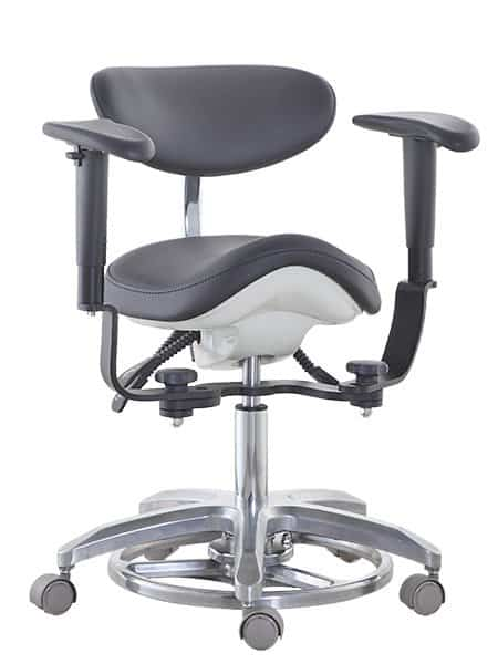 Endodontic Stool, Surgeon Chair with Arms and Saddle Seat - TRONWIND