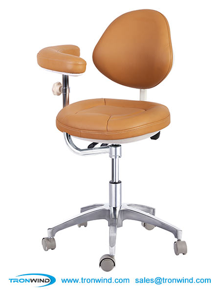 Dental Assistant Stool with Rotating Armrest and Backrest