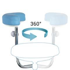 Armrest 360° rotation of dental assistant stool-TRONWIND