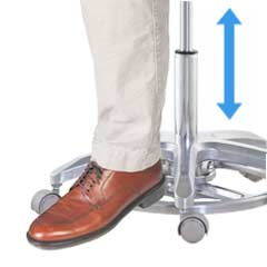 Foot-Control Seat Height Adjustment of Microscope Chairs-TRONWIND